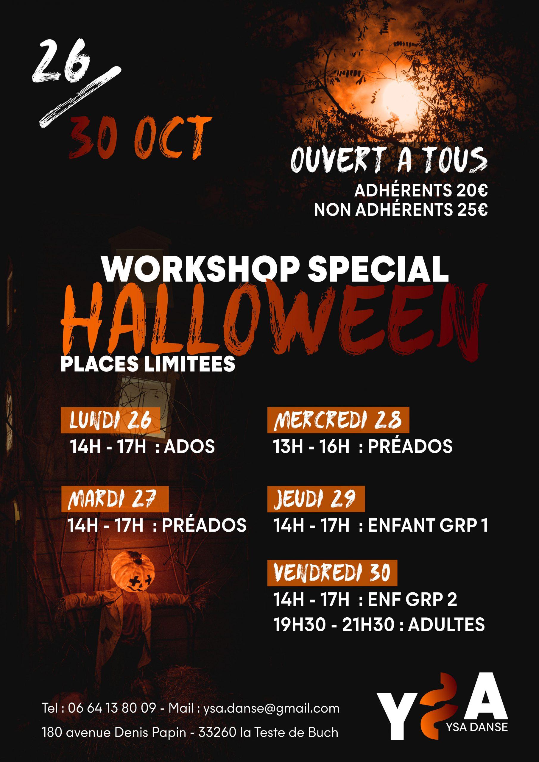 Affiche stage halloween